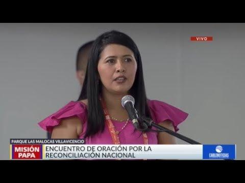 Testimonio Deisy Sánchez Rey al papa Francisco en Villavicencio