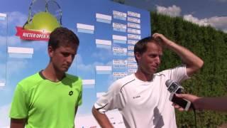 Vít Kopřiva a Jaroslav Pospíšil po prvním kole deblu na turnaji Futures v Pardubicích