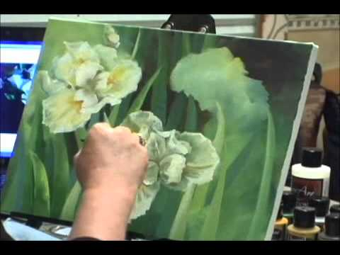 Sd Painting Iris Flowers Acrylic Techniques