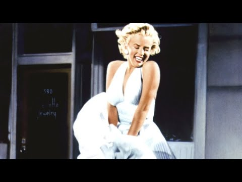 """Marilyn Monroe's Iconic White Dress Scene Blowing Up Scene From The Movie """"The Seven Year Itch"""""""