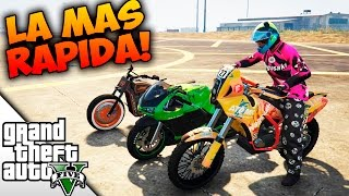 LA MOTO MAS RAPIDA DE GTA V! | HYPER TEST DE VELOCIDAD! | BraxXter