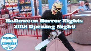 Halloween Horror Nights 2019 Opening Night | HHN 29 Orlando Mazes, Scare Zones, Merch & Pizza Fries!