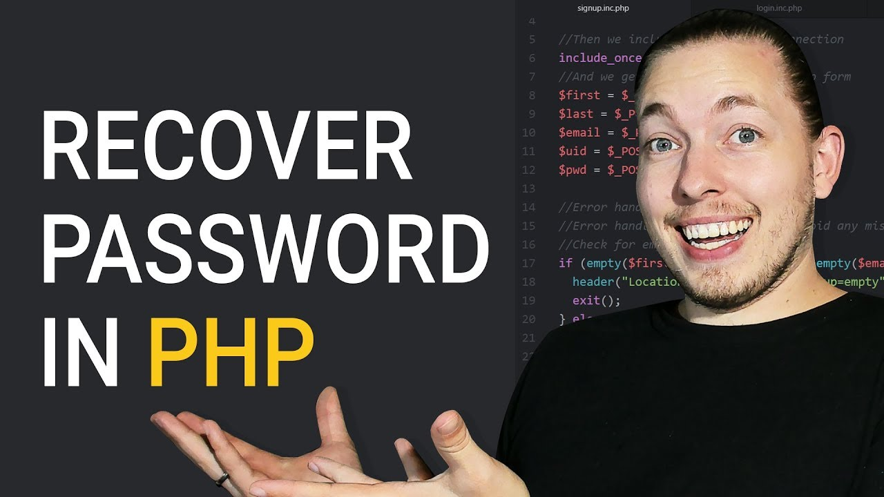 How To Create A Forgotten Password System In PHP | Password Recovery In PHP | PHP Tutorial