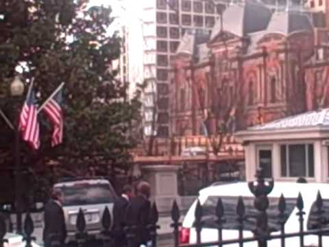 Obama Walks back to Blair House