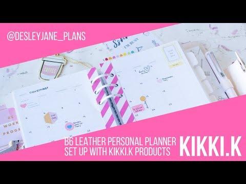 kikki.k PlannerInsider B6 Leather Personal Planner Setup