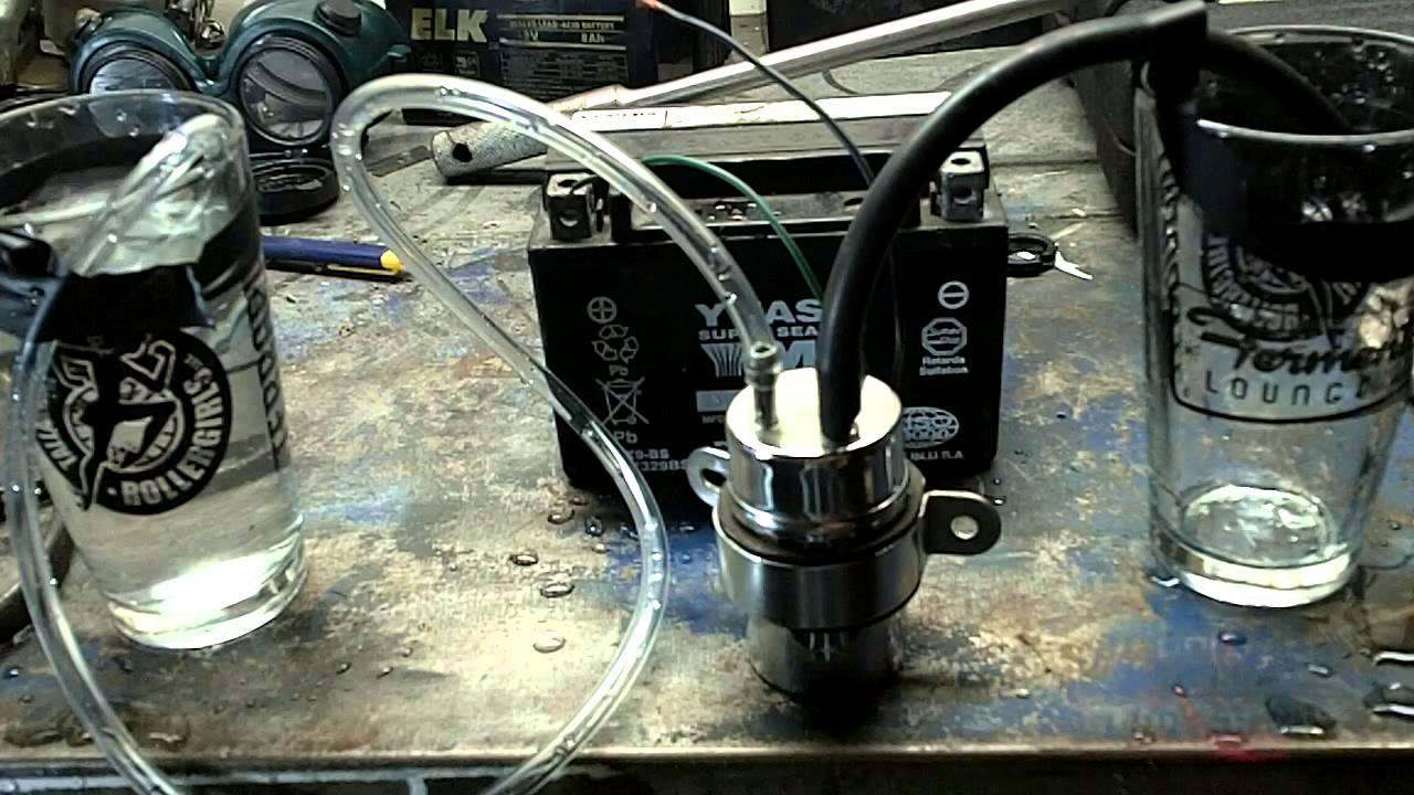 How to test a motorcycle fuel pump - YouTube