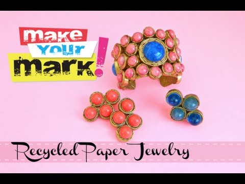 How to:  Recycled Paper Jewelry