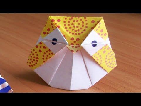 How to Fold an Easy Origami Owl| No Glue No Scissors Paper Crafs for Fall Decor DIY