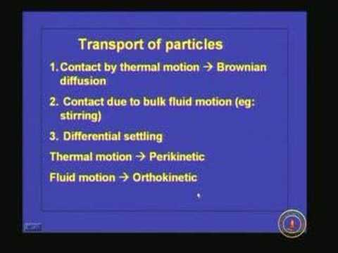 Lecture 11 Coagulation and Flocculation (Contd)