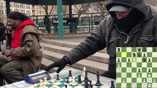 $3 Game with Chess Hustler - NYC Chess Hustling