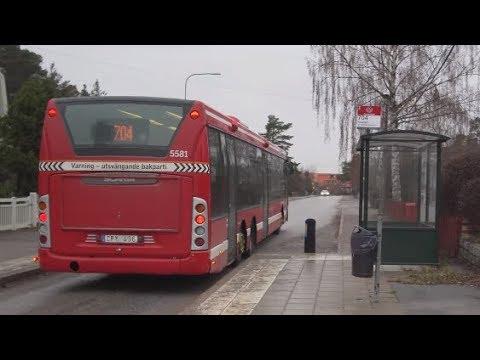 Sweden, Stockholm, ride with bus 704 from  Huddinge train station to Prostvägen