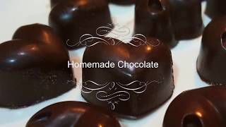 Homemade Chocolate Recipe with just 4 ingredients / How to make chocolate