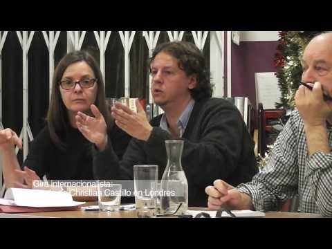 MP of the radical left in Argentina in London 2014/ Christian Castillo PTS