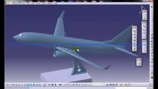 Catia V5 Tutorial|boeing 737 800|vertical Stabilisers|aerofoil