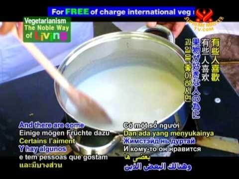 Рецепт: Взбитые соевые сливки на