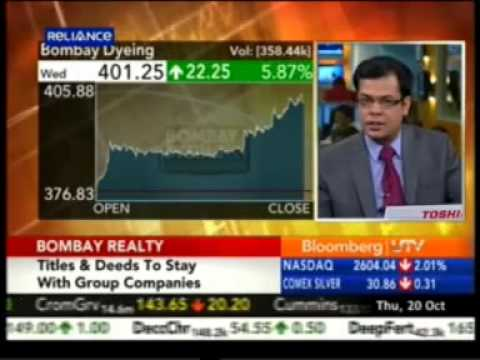 Bloomberg UTV On The Move - Mr. Jeh Wadia MD, Bombay Realty
