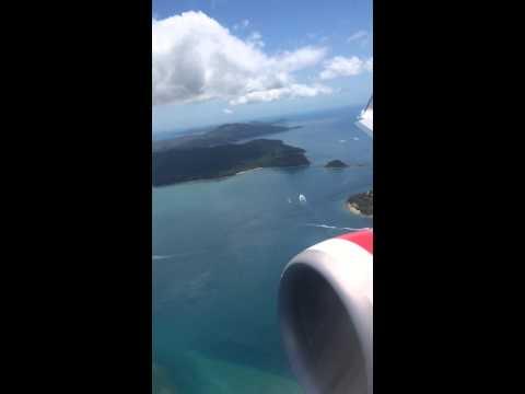 Virgin Australia Take Off From Hamilton Island Airport December 2013.