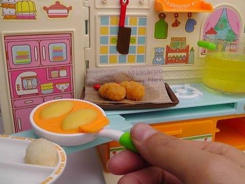Konapun Lunch Plate! Fried Food and Omurice ランチプレートいろいろ揚げました こなぷん