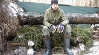 Biwak zimowy solo -12'C - bez śpiwora. Bushcraft i Survival
