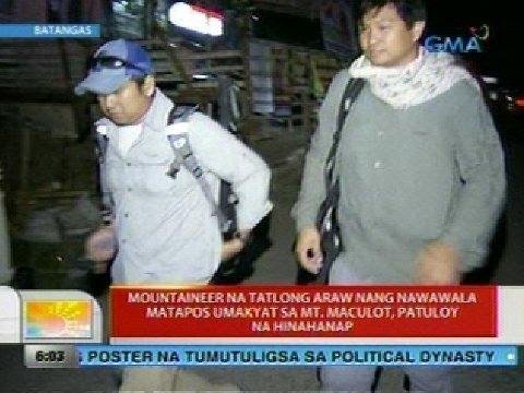UB: Mountaineer na tatlong araw nang nawawala matapos umakyat sa Mt. Maculo, patuloy na hinahanap