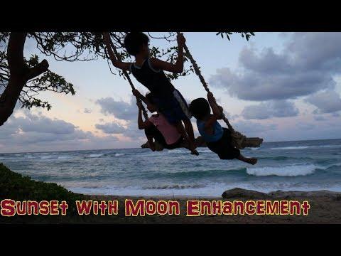 Kauai Island SUNSET with Moon enhancement | Simple life in Hawaii | Wailua | Beaches of Kauai