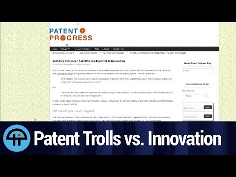Patent Trolls vs. Innovation