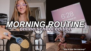 ONLINE SCHOOL MORNING ROUTINE // vlog style