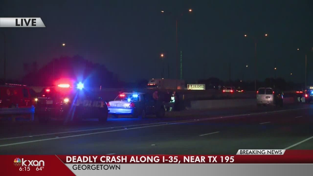 One dead in Georgetown crash at I-35 exit for SH 195