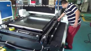 HAN'S GS 1000W laser cutting machine for metal plate & tube
