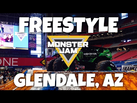 Monster Jam - Freestyle Glendale, AZ 2017