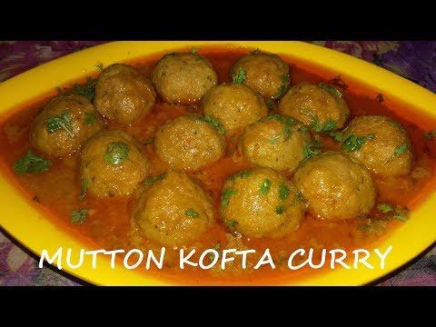 Mutton Kofta Curry(Meatballs)-Tasty Hyderabadi Restaurant Style Mutton Kofta Curry/Meatball Curry