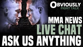 MMA Live Chat: The BIG MMA News, UFC Fight Night 135 Predictions