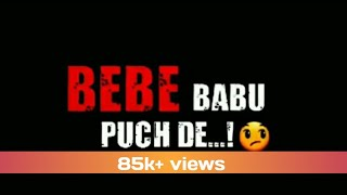 8 parche Baani sandhu WhatsApp status Black Background