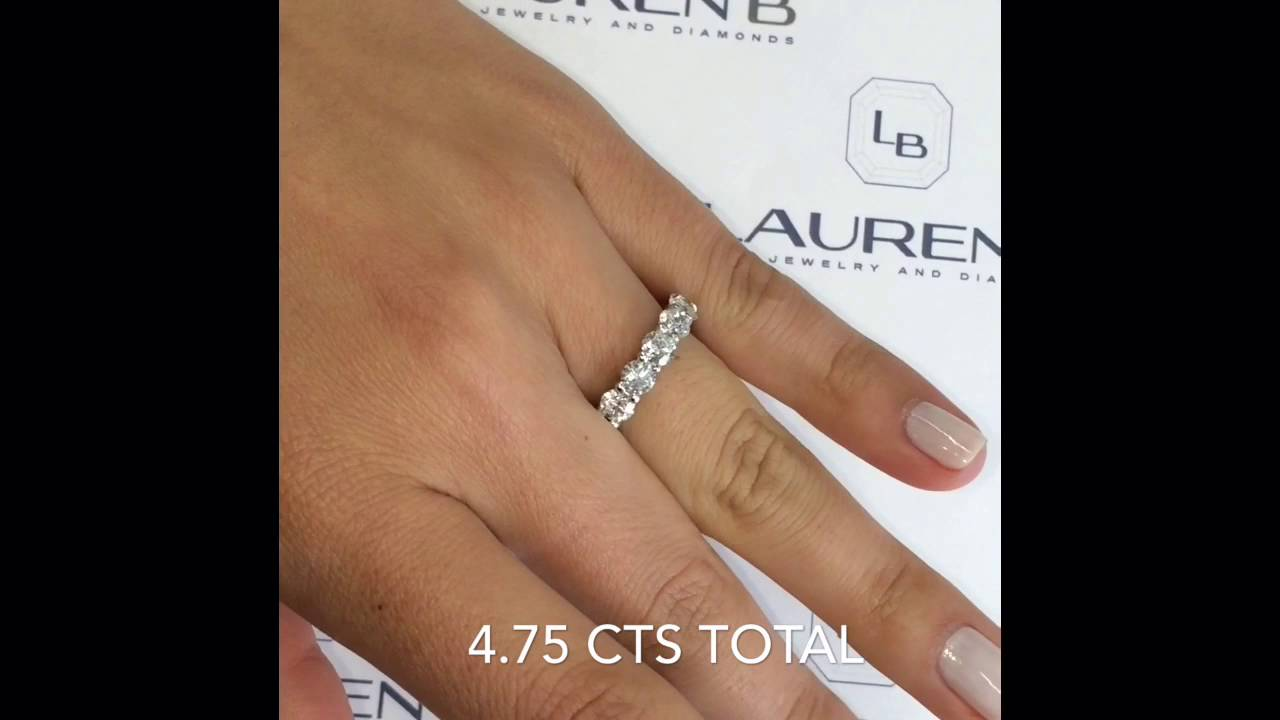 rings cut asscher ring white stone with band wg nl ct women jewelry bands gold in five fascinating carat eternity wedding diamond
