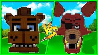 Minecraft - FREDDY HOUSE VS FOXY HOUSE VS CHICA HOUSE!