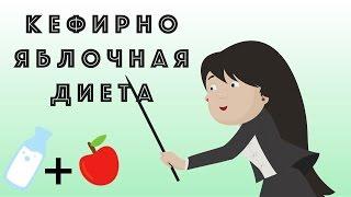 Кефирно яблочная диета. На 3, 7 и 9 дней. Кефир для похудения