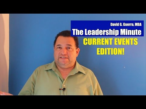 Give Up Making Excuse -Current Events Edition - The Leadership Minute #82