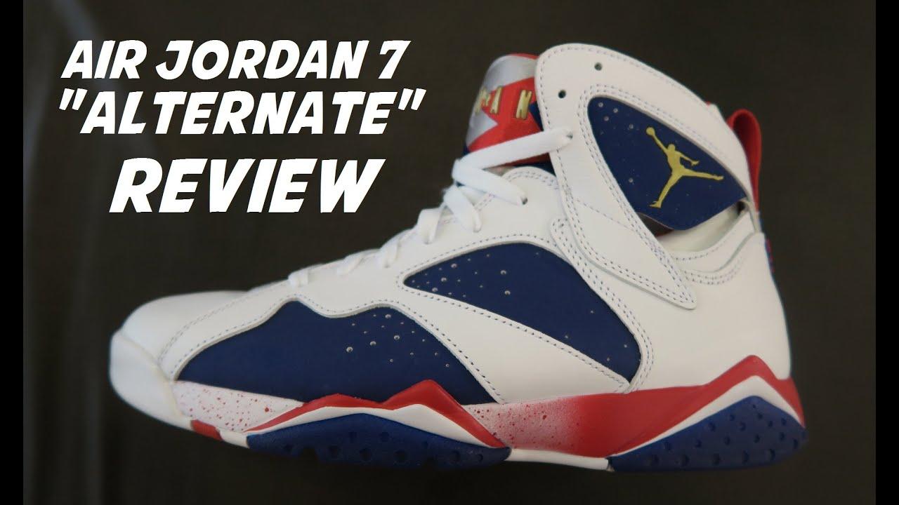 Air Jordan 7 Olympic Tinker Alternate Team USA Retro Sneaker Detailed Look  Review With Dj Delz