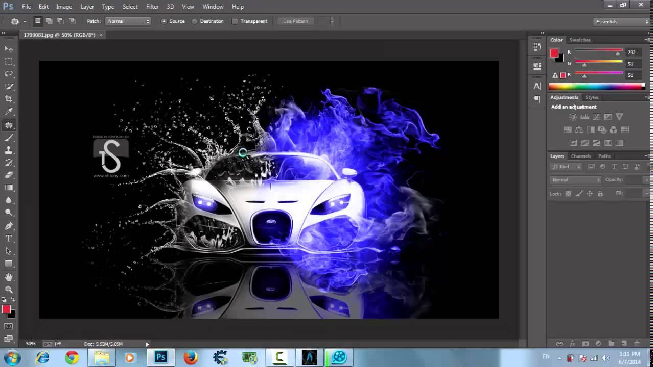 شرح حفظ الصورة في الفوتوشوب بدقة عالية للمبتدئين Adobe Photoshop Cc Youtube