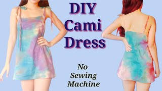 DIY Cami Dress/ No sewing machine needed //