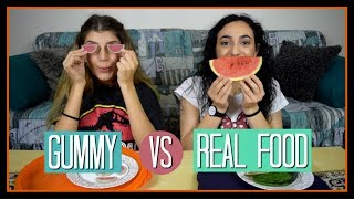 Gummy vs Real Food #2 || fraoules22