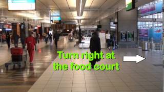 Executive Carport Oliver Tambo Airport walk through directions