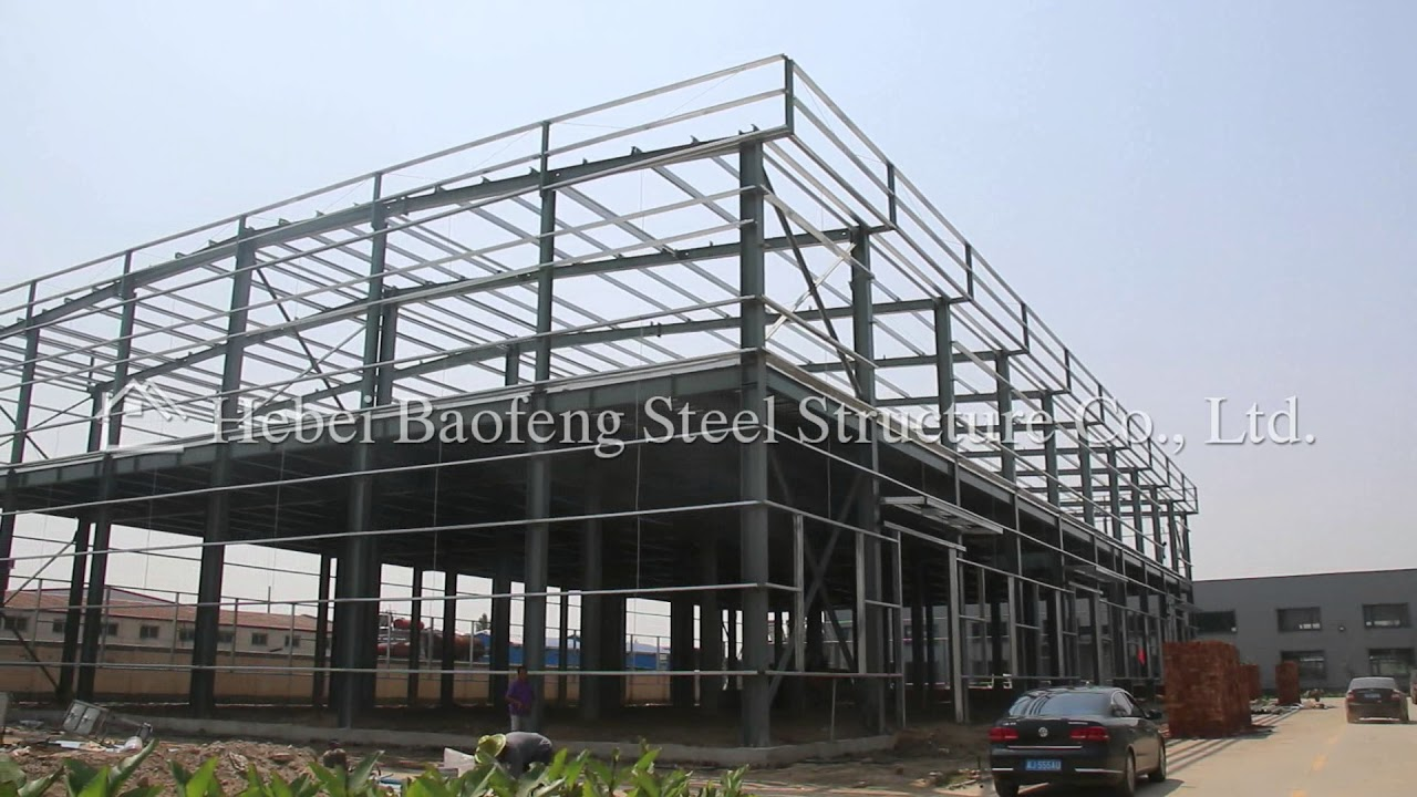 Two story steel structure frame buildings youtube for 2 story steel building