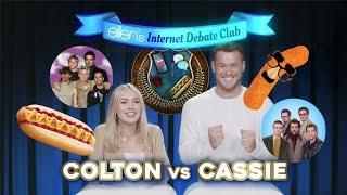 'Bachelor' Stars Colton Underwood & Cassie Randolph Face Off in 'Ellen's Internet Debate Club'