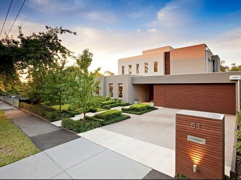 modern front yard garden design