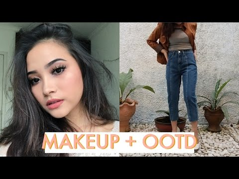 Glam Makeup Pake Produk Drugstore! (GRWM) // feat. NA-KD Outfit