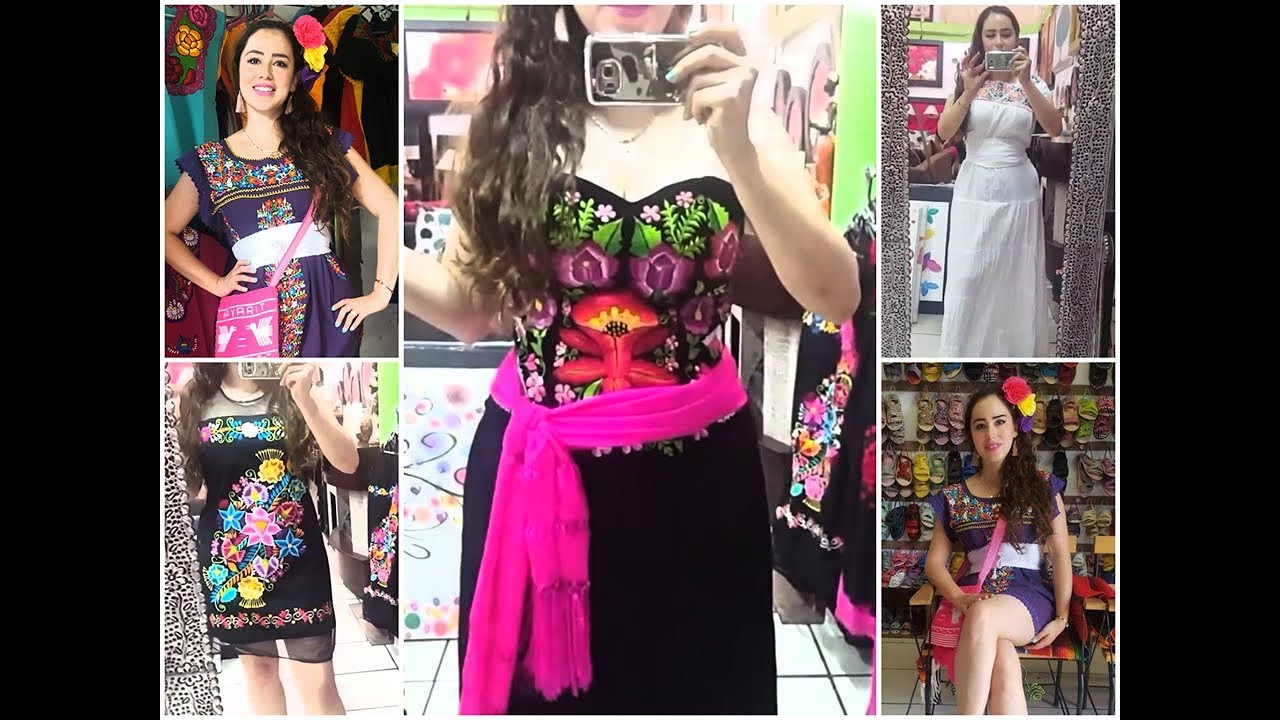 Moda Mexicana Vestidos Bordados Buscando El Vestido Perfecto