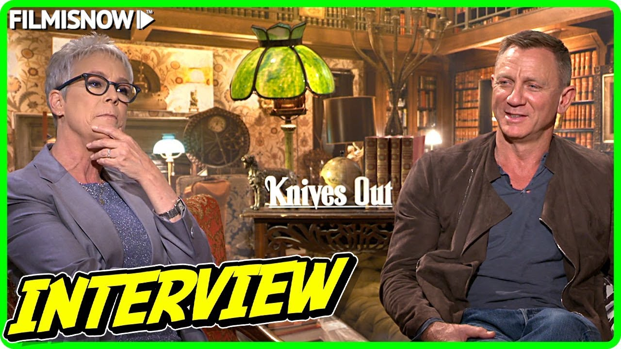 Daniel Craig & Jamie Lee Curtis Interview for KNIVES OUT