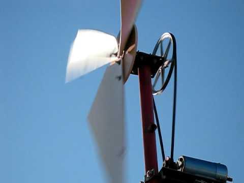 Diy wind powered water pump cata vento com bomba de agua for Homemade pond aerator plans
