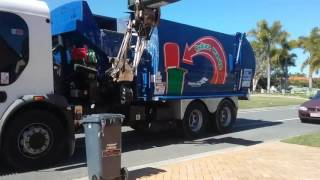 Bribie Island Garbage And Recycling+Inside Of Truck